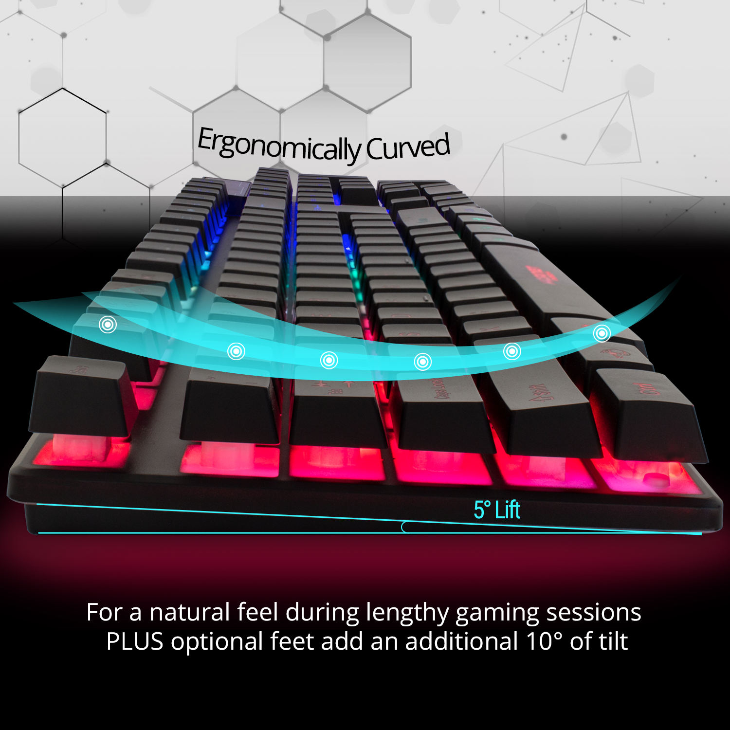 RGB Gaming Keyboard LED Back-lit Wired USB For Xbox PS4 PC Laptop Gaming 4