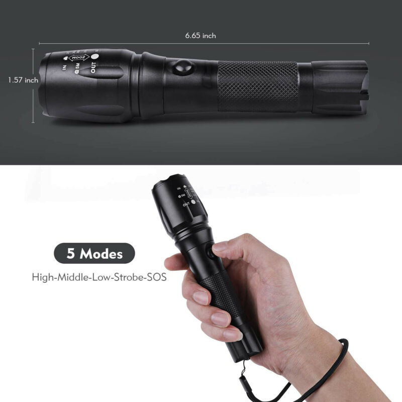 Rechargeable 350000LM Flashlight CREE T6 LED Tactical Bike Light Torch Headlamp 9