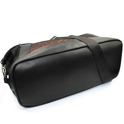 Roberto Cavalli CLASS weekend travel bag duffle bag of black nylon leopard print 7