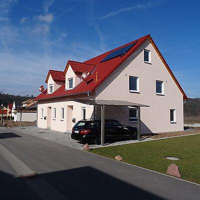 ALUMINIUM CARPORT BAUSATZ Einzelcarport freistehend Edel Stahl Look ...