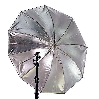 60 in. Black/Silver Reflective Photo Studio Lighting Umbrella 10 Panels 2