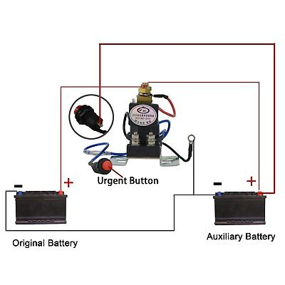 12V 200 AMP Dual Battery Isolator Auto Battery Emergency Switch Controller Relay 2