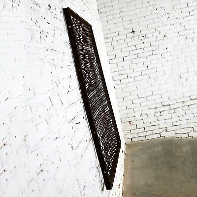 Antique Primitive Industrial Woven Wire Window Security Guard 5