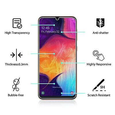 Samsung Galaxy A20 A30 A50 Premium Full Cover Tempered Glass Screen Protector 2
