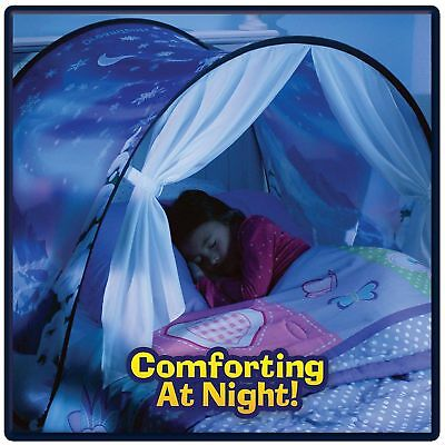 Dream Tents Kid Unicorn Space Foldable Tent Pop up Indoor Bed House +Tents Light 4