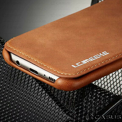 For Galaxy Note 10/9/8 S10/S9 Plus Leather Wallet Stand Thin Slim Case Cover 6