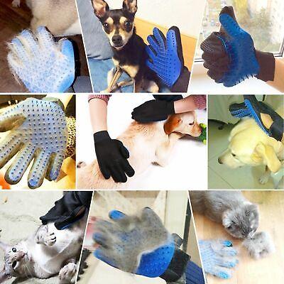 Pet Hair Remover Glove Brush Dog Cat Grooming Massage Soft Bath Shedding Glove 7
