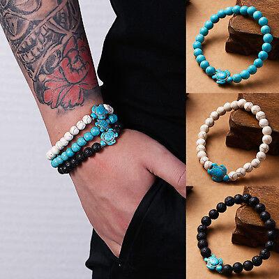 Natural Stone Bead Bracelet Men Women Tiger Eye Turquoise Bangle Jewelry Gift 12
