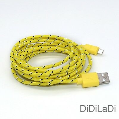 1/2/3M Braided Lightning USB Charger Data Sync Cable For iPhone 6 7 8 Plus X XR 2