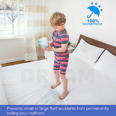 All Size Terry Cotton Fully Fitted Waterproof Mattress Protector Pillow Cover