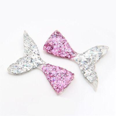 10pcs/lot kawaii resin mermaid tail DIY flatback resin cabochons accessories 6