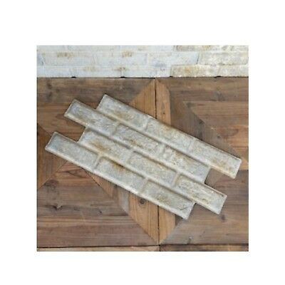 Brick Shaped Stamped Pressed Tin Antique Style Wall Ceiling Panels PAIR Sheets