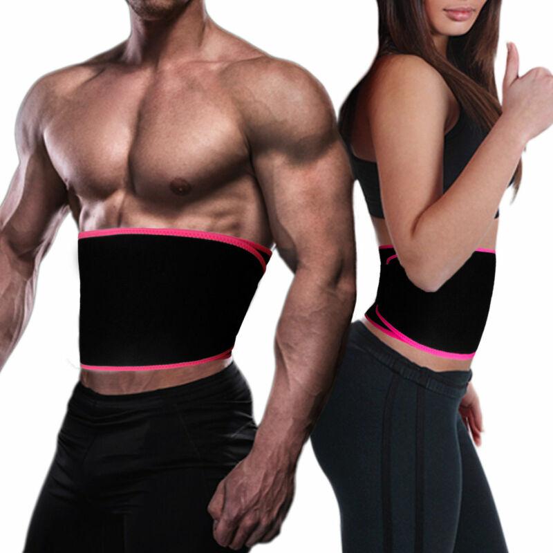 UK Men Women Waist Trimmer Belt Sweat Wrap Tummy Stomach Weight Loss Fat Burner 6