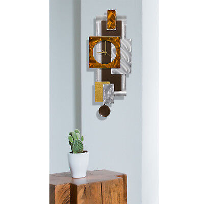 GEOMETRIC PENDULUM CLOCK - Modern Metal Wall Art DESIGNER Decor by Jon Allen 9