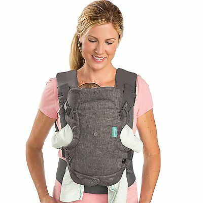 Infantino Flip Advanced 4-in-1 Convertible Carrier, Light Grey 2