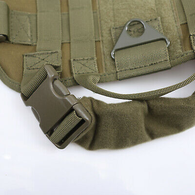 US Police K9 Tactical Training Dog Harness Military Adjustable Molle Nylon Vest 7