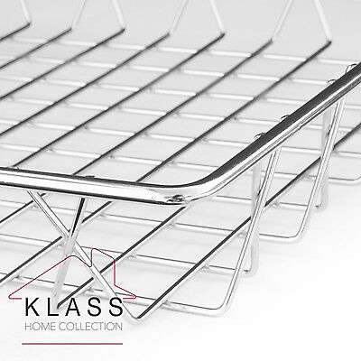 LARGE STAINLESS STEEL TRAY RACK// MULTIPURPOSE USE BREAD BASKET Size 46X35X5CM