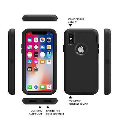 """For Apple iPhone XS Max iPhone XS / X Case """"Clip Fits Otterbox Defender Series"""""""
