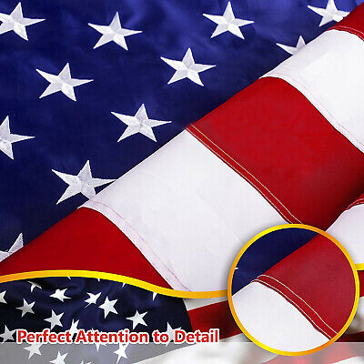 G128 – American Flag US USA | 5x8 ft | Embroidered Stars, Sewn Stripes 2