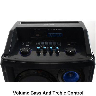 Portable Karaoke Machine Home Audio Bluetooth Speaker System Wireless Microphone 8