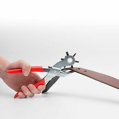 """6 Sized 9"""" Heavy Duty Leather Hole Punch Hand Pliers Belt Holes Punches 9"""