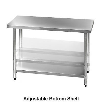 430 Stainless Steel Bench Table Commercial Home Kitchen Work Food Grade Shelf 7