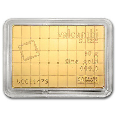 50x 1 gram Gold Valcambi CombiBar - SKU #74946 2