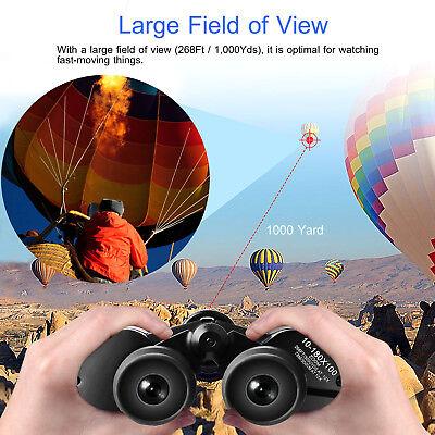 Day/Night 180x100 Military Zoom Powerful Binoculars Optics Hunting Camping+Case 7