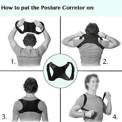 Back Posture Corrector Shoulder Straight Support Brace Belt Therapy Men Women 6