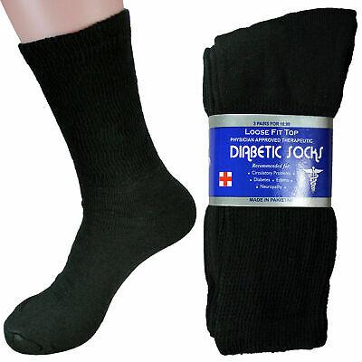 3-12 Pairs Diabetic Crew Circulatory Socks Health Men's Womens Cotton 9-11 10-13 4
