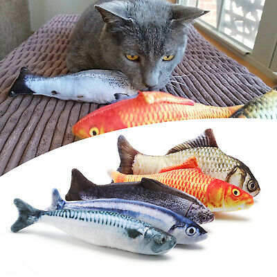 5 Pack Realistic Interactive Fish Cat Kicker Crazy Pet Toy Catnip Toys Gift 4
