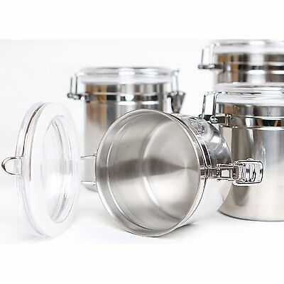 Stainless Steel Air Tight Canister 64 fl oz - Food & Coffee Storage Container 4