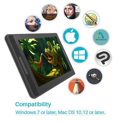USED HUION KAMVAS PRO 12 Graphics Drawing Battery Free Pen Tablet Monitor Tilt 7