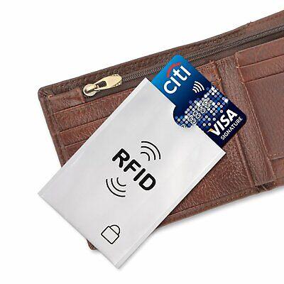 5 x Protector RFID Funda Anti Robo Tarjeta Crédito Pasaporte Cartera 3
