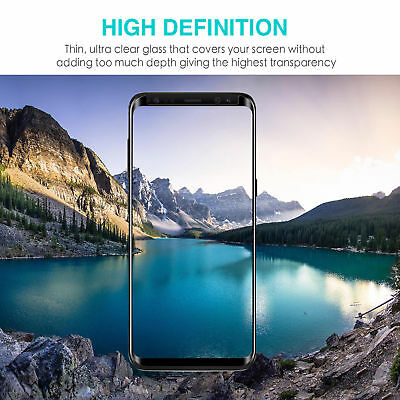 Samsung Galaxy S9 S8 Plus Note 9 8 Full Cover Screen Protector Tempered Glass 8