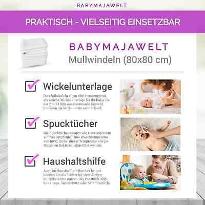 Mullwineln 60 80x80 weiß Spucktücher Stoff Baumwolle Mehrweg Babymajawelt® 3