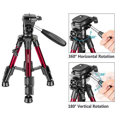 Neewer Red Mini Travel Tabletop Camera Tripod 62cm with 3-Way Swivel Pan Head 4