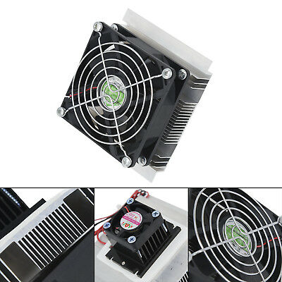 12V,6A,60W DIY Thermoelectric Peltier Refrigeration Cooling System Cooler Fan 1X 2