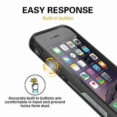 For Apple iPhone 6s 6 Plus Waterproof Case Cover w/ Built-in Screen Protector 4