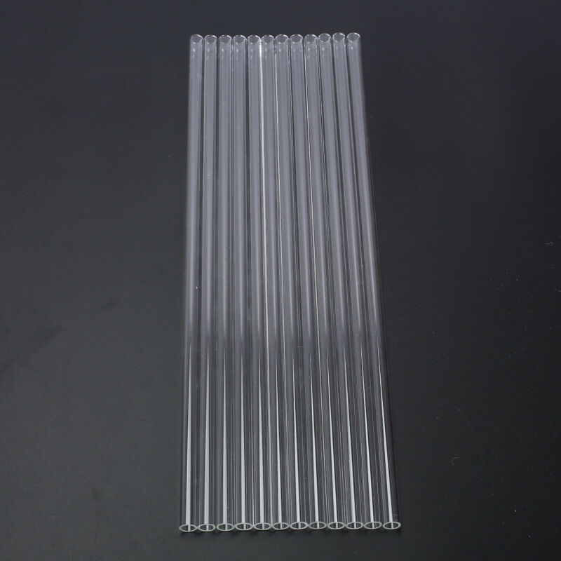 "12pcs 8mm OD Pyrex Glass Tubes Borosilicate Glass Blowing Tubing Clear 12 "" Long 4"