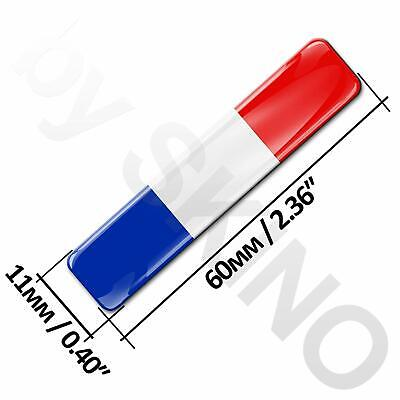 4 x AUTOCOLLANT FRANCE DRAPEAU FLAG STICKERS ADHESIF RESINE 3D DOMED VOITURE F 8 2