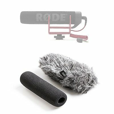 Movo WS-G7 Furry Outdoor Microphone Windscreen Muff Fit for Rode VideoMic Go 3