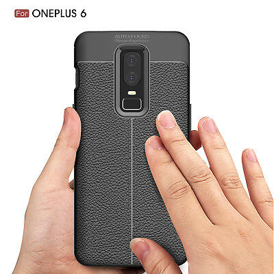 Dooqi Ultra Thin Luxury PU Leather Soft TPU Shockproof Case Cover For OnePlus 6 7
