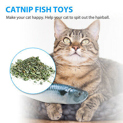 5 Pack Realistic Interactive Fish Cat Kicker Crazy Pet Toy Catnip Toys Gift 2