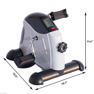 Portable Mini Pedal Exercise Bike Indoor Cycle Fitness Hand Foot w/ LCD 2