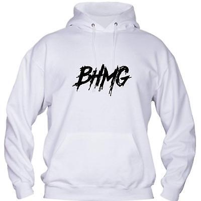 Felpa Cappuccio Sfera Ebbasta BHMG Gue Pequeno Hip Hop colori bianco e nero