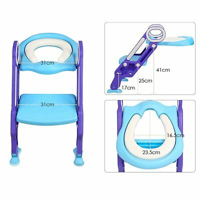 Bébé Formation Siège de Toilette échelle marches pliable Enfant WC Pot éducatif 4