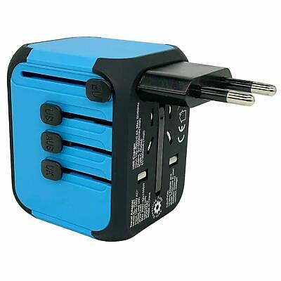 JOLLYFIT Universal Travel Adapter 5A Smart Charger (Blue Type-C and 3 USB Port) 4