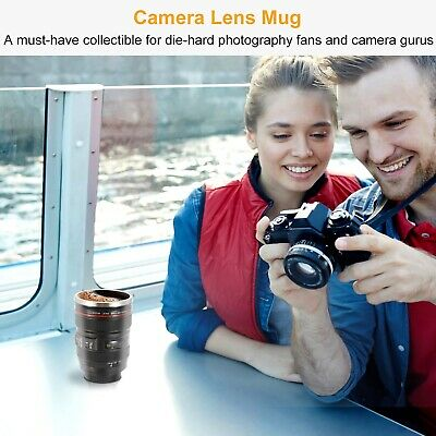 Camera Lens Cup 24-105 Coffee Travel Mug Stainless Steel Leak-Proof Lid 2