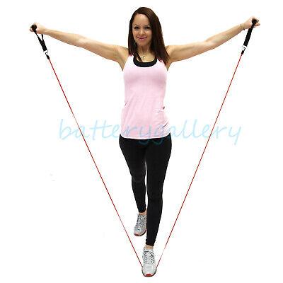 11 PCS Resistance Band Set Yoga Pilates Abs Exercise Fitness Tube Workout Bands 4